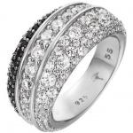 Joop JPRG90606C Damen Ring Statement Sterling-Silber Schwarz 59 (18.8)
