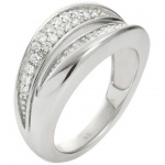 Fossil JFS00037040508 Damen Ring Sterling-Silber 925 17, 8 mm Größe 56