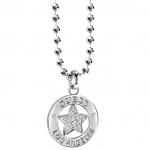 GUESS Damen Collier Stern Metall Zirkonia weiß 45, 5 cm