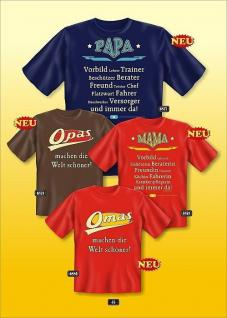 Fun Collection T-Shirt Familie Papa Mama Opa Oma Shirt Geschenk Auswahl bedruckt