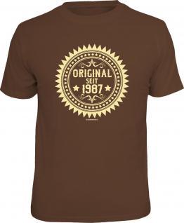 Geburtstag T-Shirt 30 Jahre - Original seit 1987 Fun Shirt Geschenk bedruckt