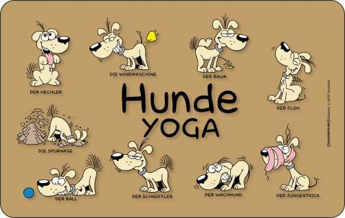 Frühstücksbrettchen Hunde Yoga - Vorschau