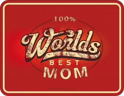 Geburtstag Schild - Worlds Best Mom Muttertag Blechschild - Vorschau