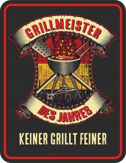 Fun Blech Schild - Grillmeister des Jahres
