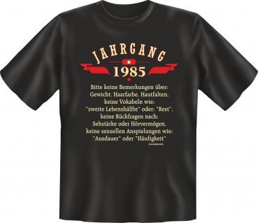Geburtstag T-Shirt - Jahrgang 1985 Geschenk - Vorschau
