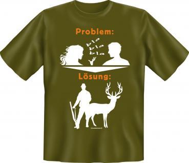 Jäger T-Shirt - Problem Lösung Jagd - Vorschau 1