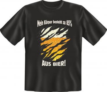 Fun T-Shirt - Körper 85% aus Bier