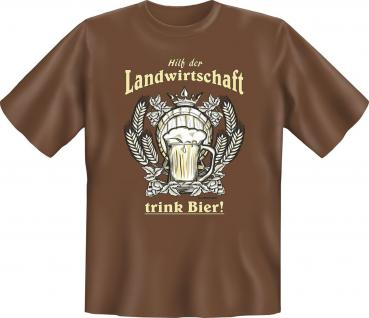 T-Shirt - Hilf der Landwirtschaft - Trink Bier - Vorschau 1
