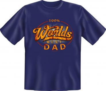 Vatertag T-Shirt - 100 % Worlds Best Dad
