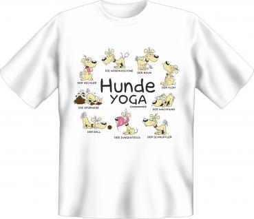 Fun T-Shirt - Hunde Yoga