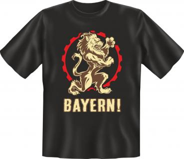 Oktoberfest T-Shirt - Bayern Wappen Löwe