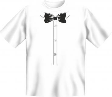 T-Shirt - Hemd Fliege schwarz