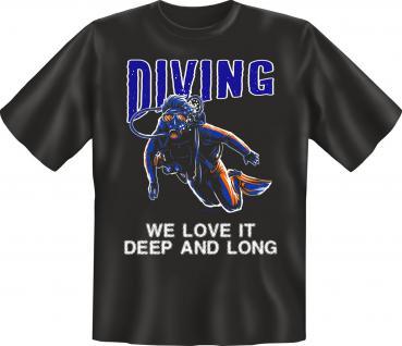 Taucher T-Shirt - Diving deep and long - Vorschau 1