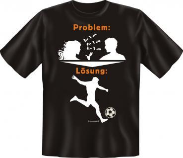 T-Shirt - Problem Lösung Fussball