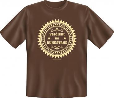 Geburtstag T-Shirt - Verdient im Ruhestand - Vorschau 1