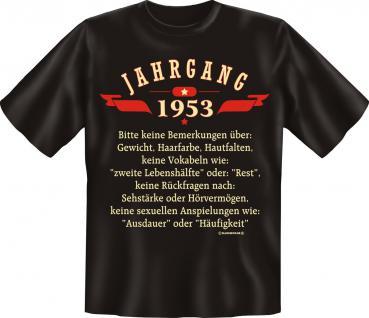 Geburtstag T-Shirt - Jahrgang 1953