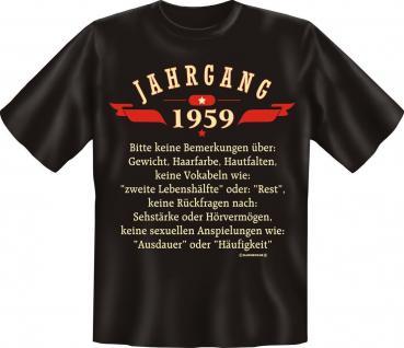 Geburtstag T-Shirt - Jahrgang 1959 - Vorschau