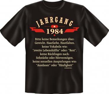 Geburtstag T-Shirt - Jahrgang 1984