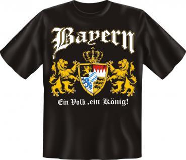 Bayern T-Shirt - Ein Volk , ein König !