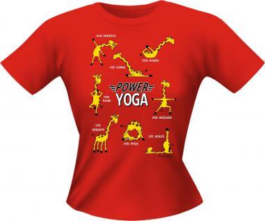 Lady Shirt - Power Yoga Giraffe - Vorschau