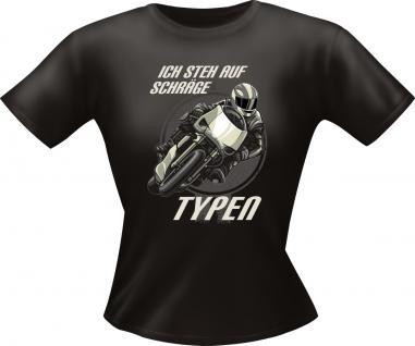 Girls T-Shirt - Ich steh auf schräge Typen