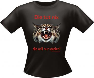 Lady T-Shirt - Die Katze will nur spielen