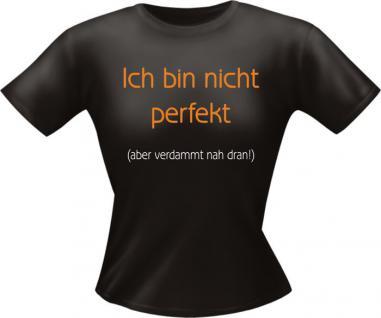 Lady T-Shirt - Ich bin nicht perfekt - Vorschau