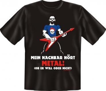Musik T-Shirt - Mein Nachbar hört Metal
