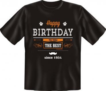 Geburtstag T-Shirt - The Best since 1954