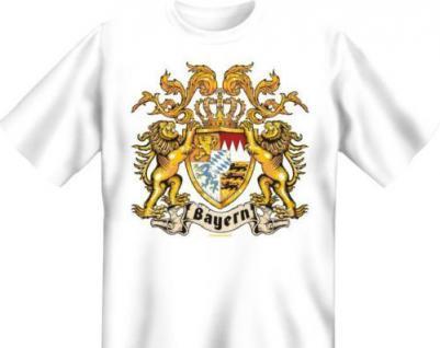 geil bedrucktes Fun T-Shirt Shirts - Wappen Bayern - Oktoberfest München Bavaria