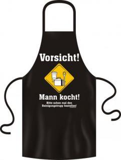 Kochschürze - Mann kocht