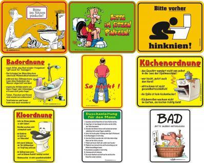 Fun Collection WC Bad Blechschild Alu Schild Toilette Auswahl lustig bedruckt