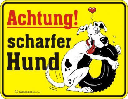 Fun Warnschild - Achtung - scharfer Hund