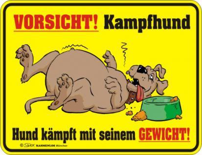 Fun Warnschild - Vorsicht - Kampfhund - Vorschau