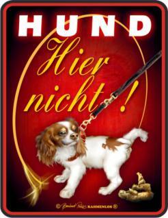 Fun Warnschild - Hund - hier nicht