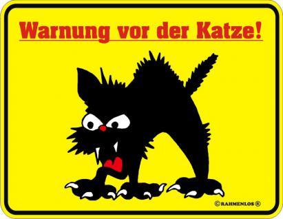 Fun Warnschilder - Warnung vor der Katze - Vorschau