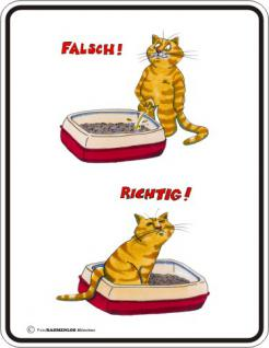 Katzen Fun Schilder - Katzenklo