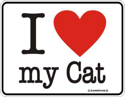 Blechschilder - I love my Cat - Vorschau