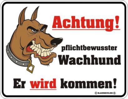 Warnschild - Achtung Wachhund - Vorschau