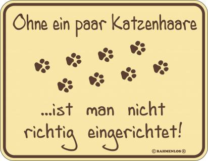 Katzen Fun Schilder - Ohne Katzenhaare - Vorschau