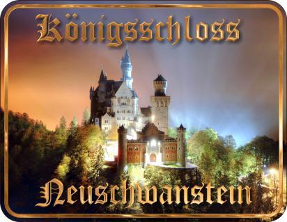 Bayern Nostalgie Schilder - Königsschloss Neuschwanstein - Vorschau