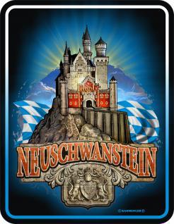 Bayern Nostalgie Schilder - Neuschwanstein - Vorschau