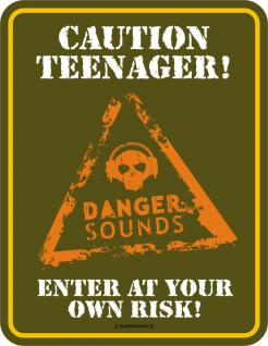 Warnschild - Caution Teenager - Vorschau