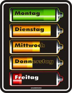 Fun Blech Schilder - Batterie Füllstand