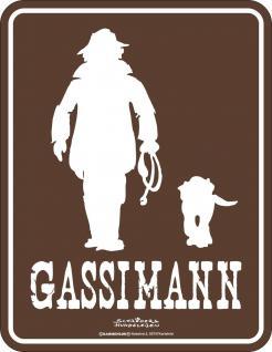 Blechschild - Gassimann