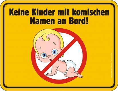 Fun Blechschild - Kinder mit komischen Namen - Vorschau