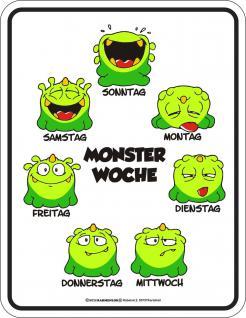 Fun Schild - Monster Woche - Vorschau