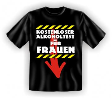 Fun T-Shirt - Kostenloser Alkoholtest