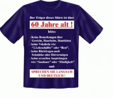 Geburtstag T Shirt - Langsam mit 60 - Vorschau