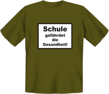T-Shirt - Schule gefährdet die Gesundheit - Vorschau